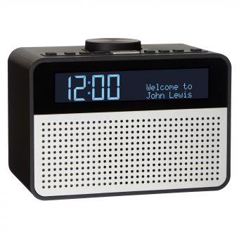 John Lewis Astro DAB+/FM Digital Clock Radio with Alarm & LCD Display Black