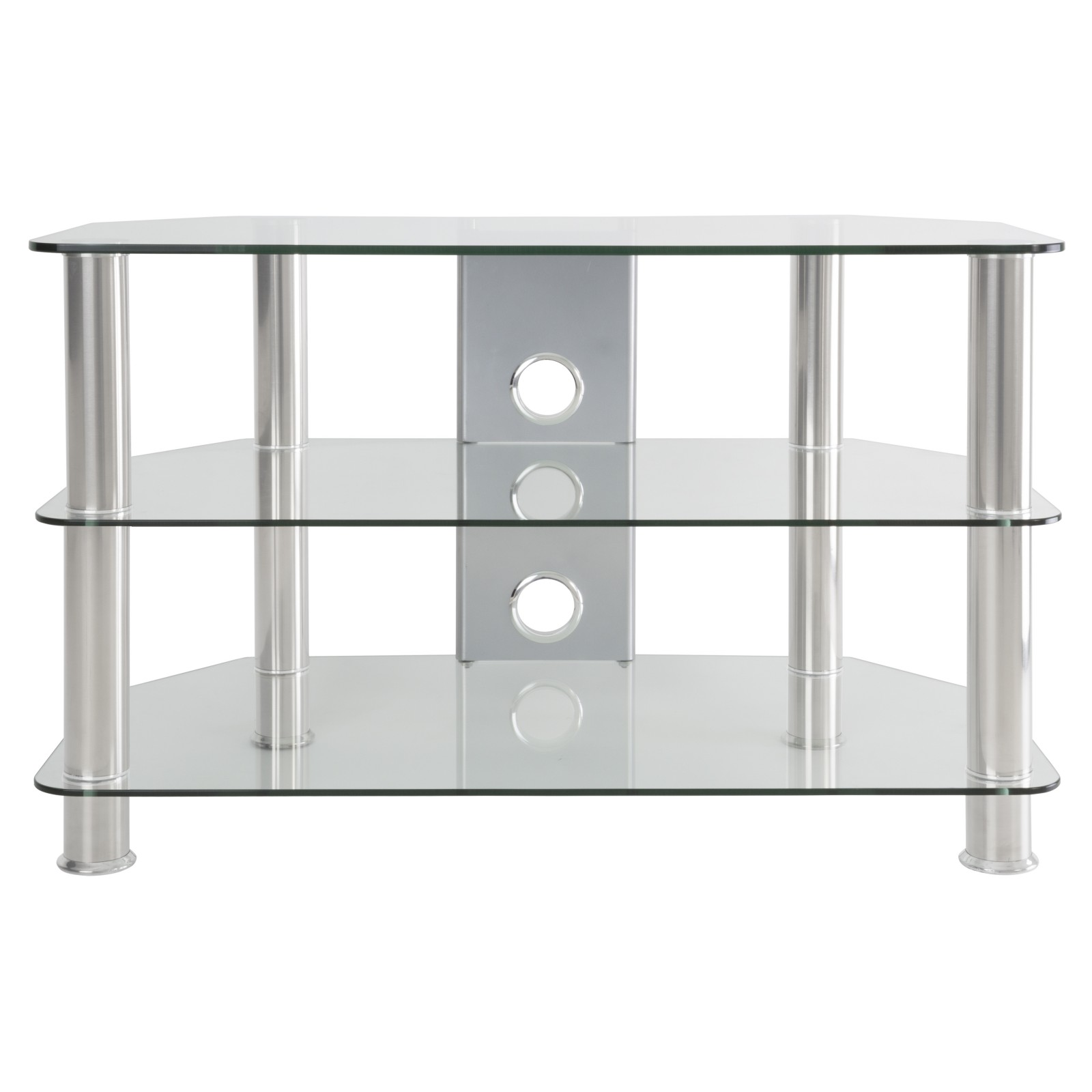 "John Lewis GP800 TV Stand for TVs up to 40"" Clear"
