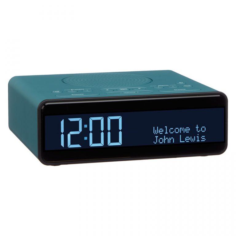 John Lewis Spectrum Clock DAB/DAB+/FM Digital Radio Teal