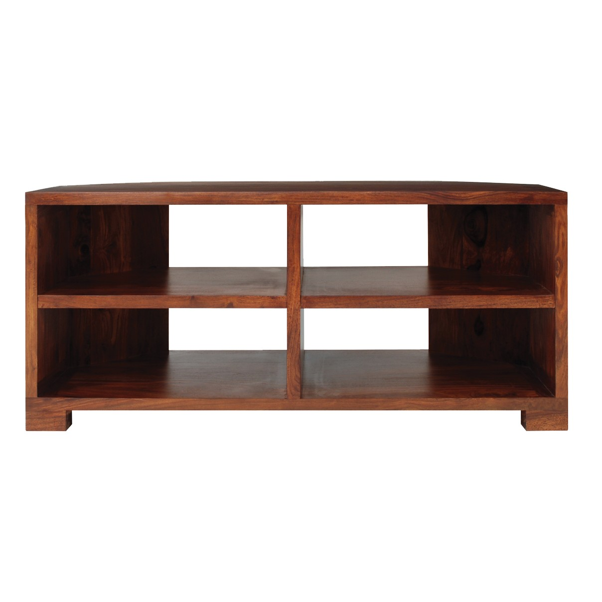 """John Lewis Stowaway Corner TV Stand for TVs up to 37"""" Dark Stained Wood"""