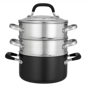 "John Lewis ""The Pan"" 3-Piece Steamer Set"