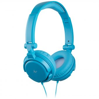 KitSound ID On-Ear Headphones with Mic/Remote Blue