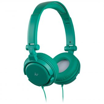 KitSound ID On-Ear Headphones with Mic/Remote Green