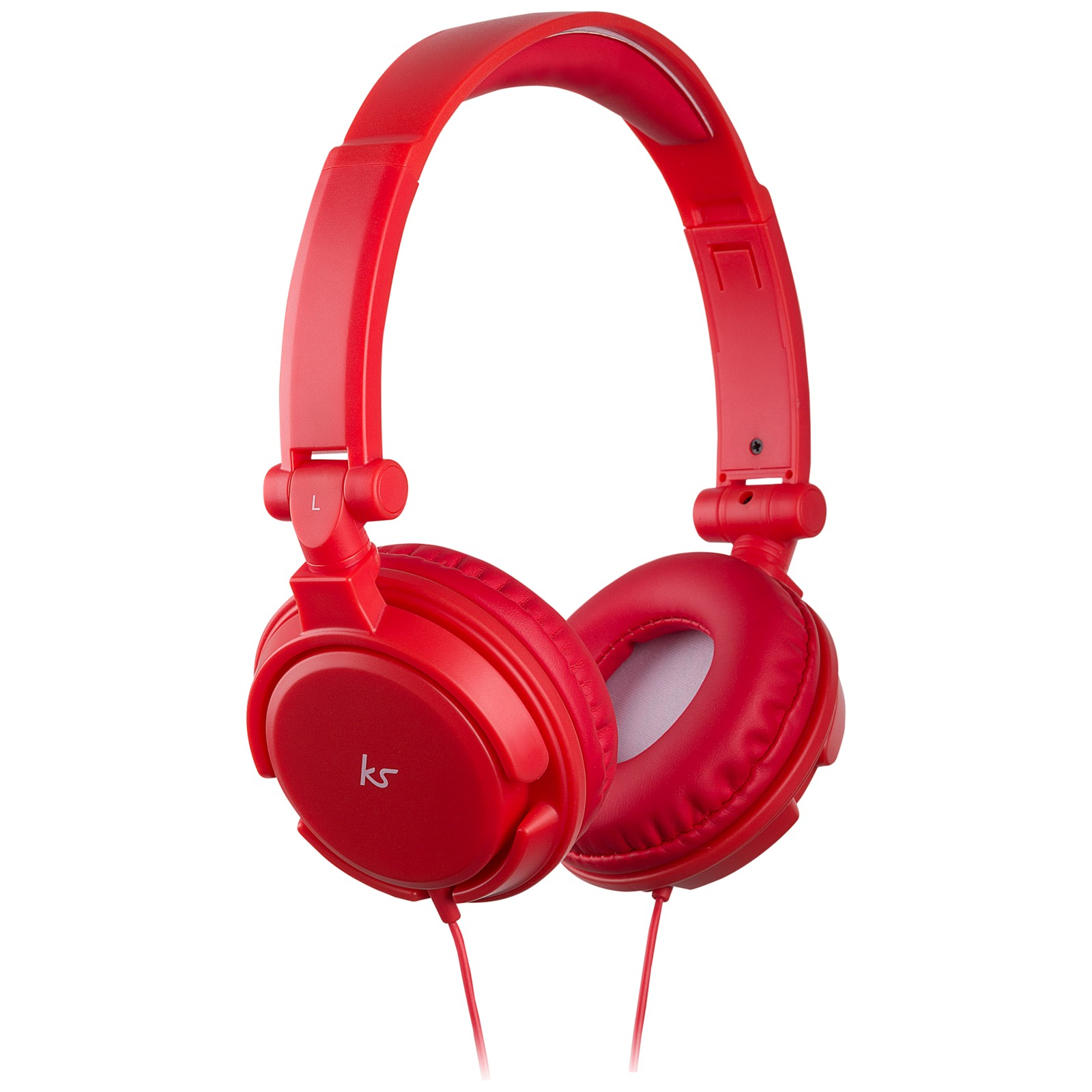 KitSound ID On-Ear Headphones with Mic/Remote Red