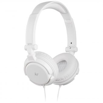 KitSound ID On-Ear Headphones with Mic/Remote White