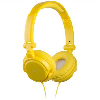 KitSound ID On-Ear Headphones with Mic/Remote Yellow