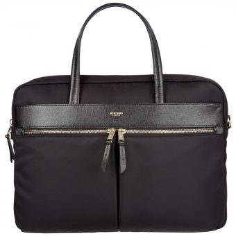 "Knomo Hanover Slim Briefcase for 14"" Laptops Black"