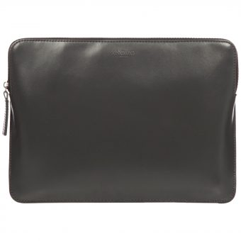 "Knomo Leather Zip Sleeve for 12"" Laptop Slate"