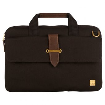 "Knomo Par Slim Canvas Briefcase for 15"" Laptops"