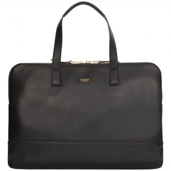 Knomo Reeves Slim Leather Briefcase for Laptops up to 14""