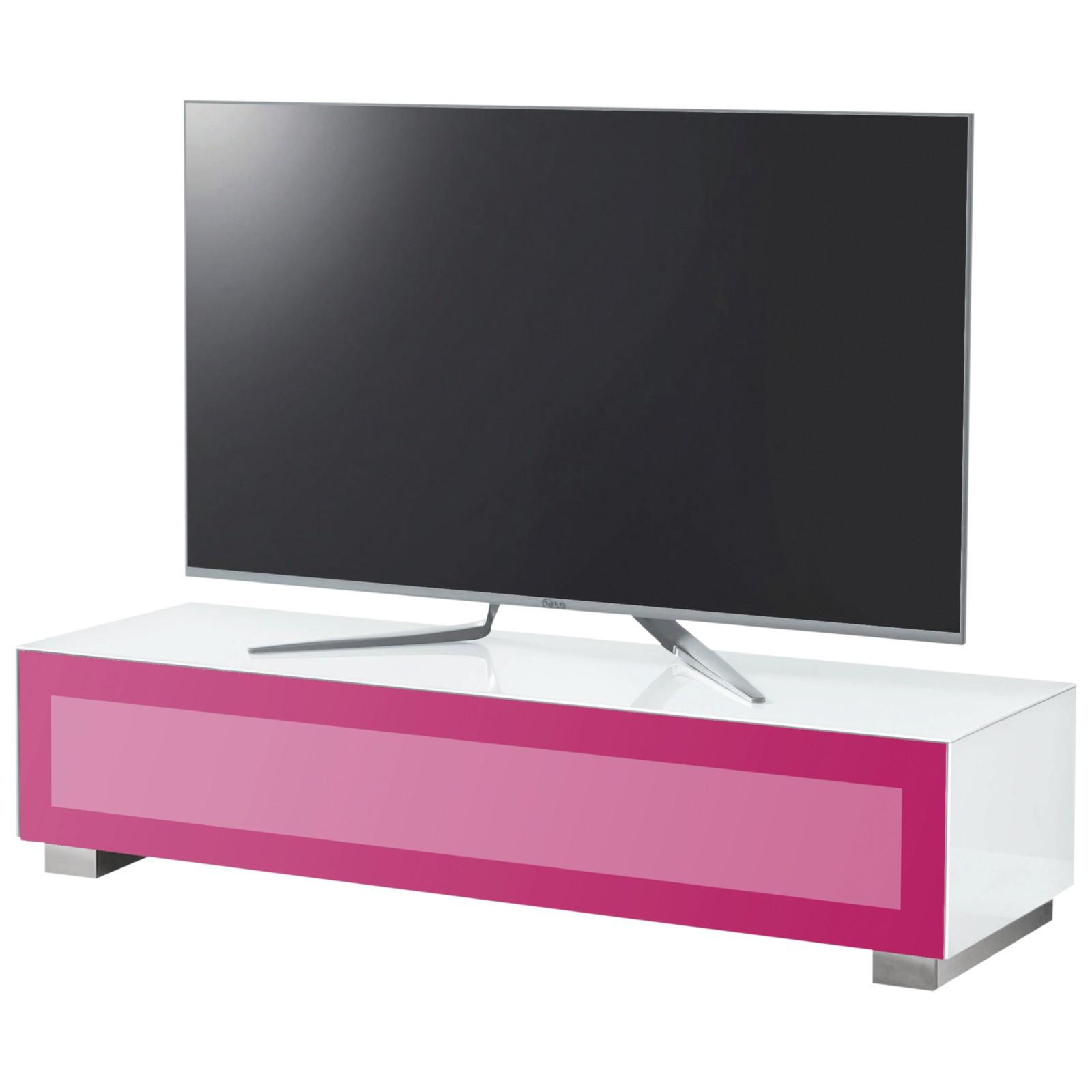 """Munari Magic 150 TV Stand For TV's up to 60"""" White/Fuchsia"""