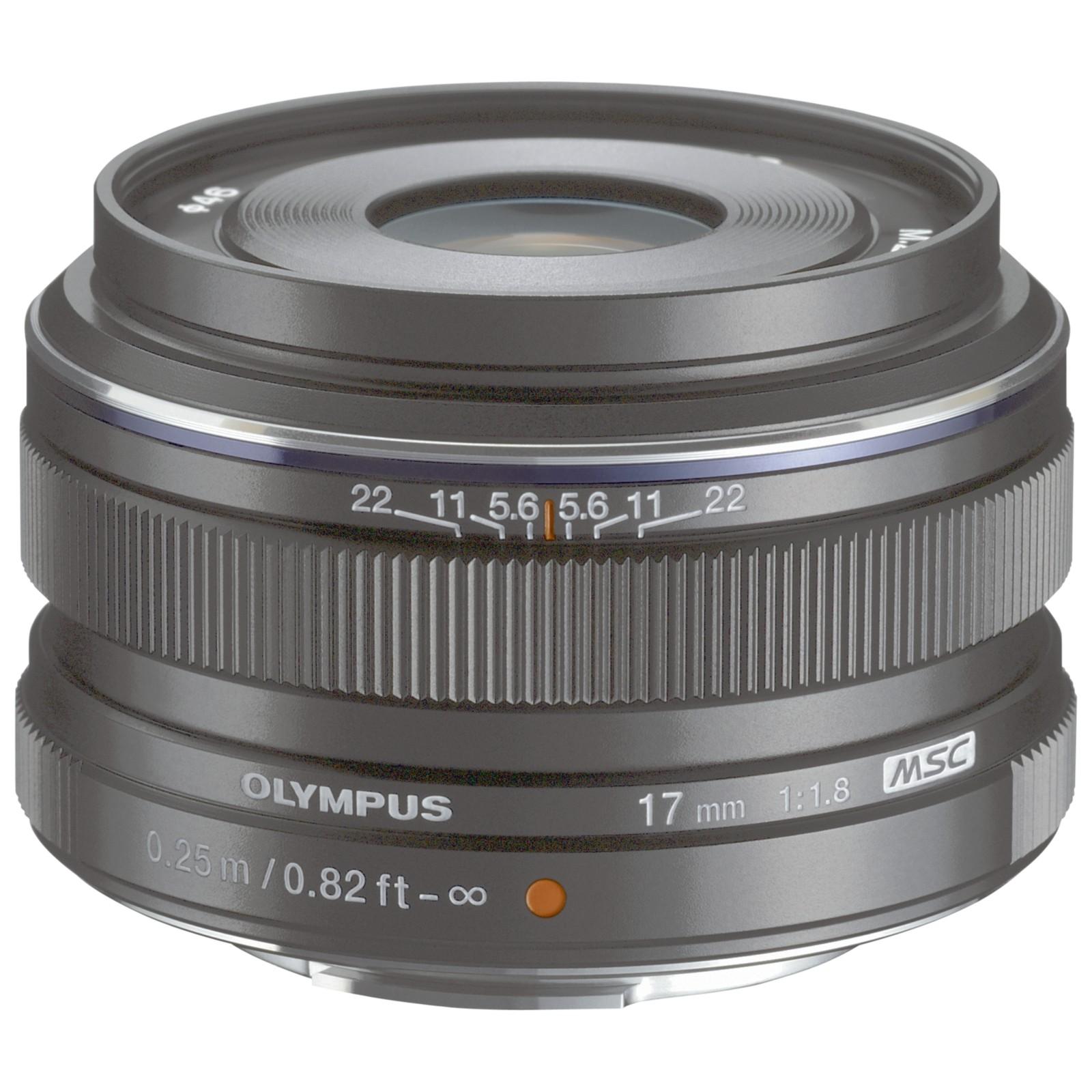 Olympus M.ZUIKO Digital 17mm f1.8 Compact Wide Angle Lens Black