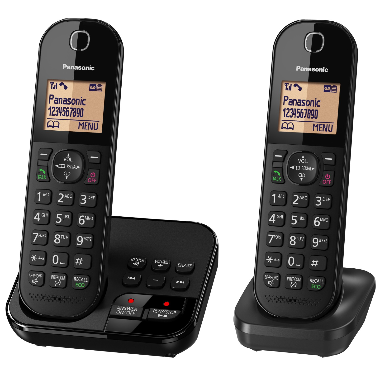 "Panasonic KX-TGC422EB Digital Cordless Telephone with 1.6"" Backlit LCD Screen"