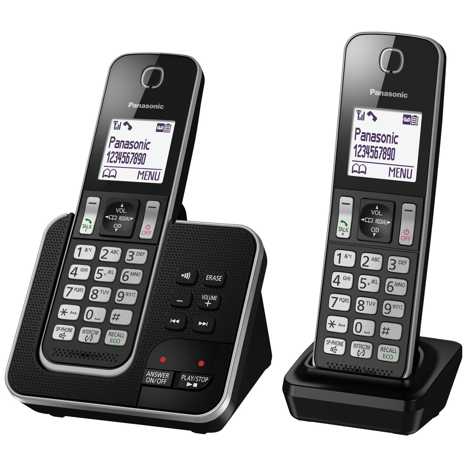 Panasonic KX-TGD322EB Digital Cordless Phone with Nuisance Call Control and Answering Machine