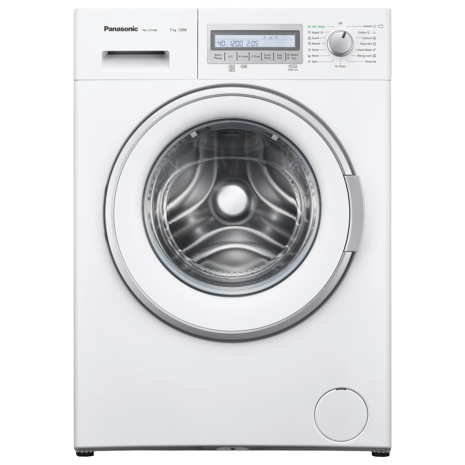 Panasonic NA-127VB6WGB Freestanding Washing Machine