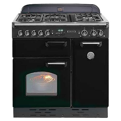 Rangemaster Classic 90 Dual Fuel Range Cooker Gloss Black