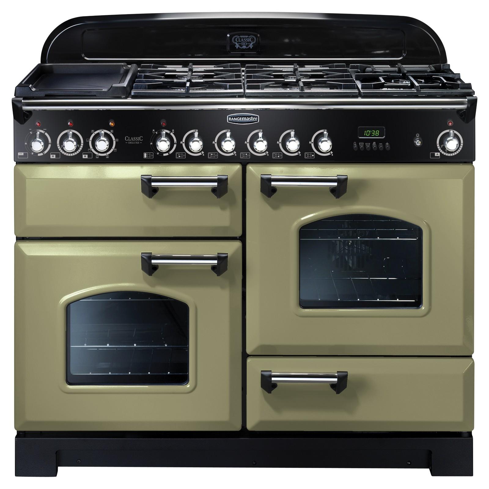 rangemaster classic deluxe 110 dual fuel range cooker. Black Bedroom Furniture Sets. Home Design Ideas