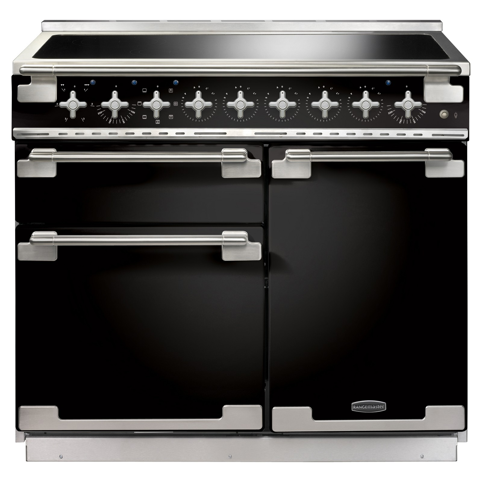 Rangemaster Elise 100 Induction Hob Range Cooker Gloss Black