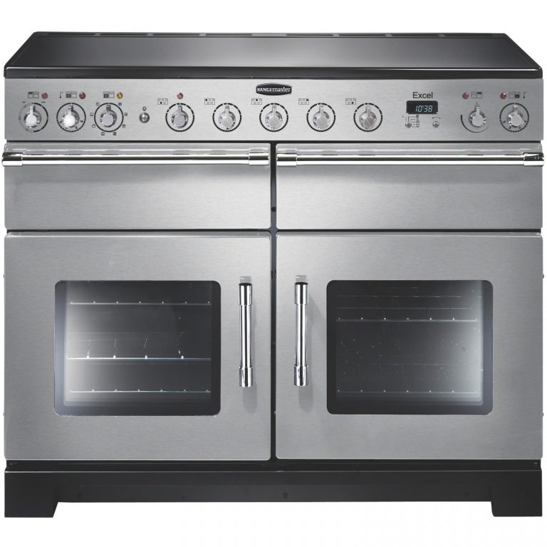 Rangemaster Excel 110 Electric Induction Range Cooker Stainless Steel/Chrome Trim