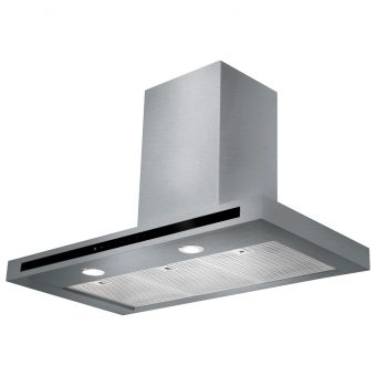 Rangemaster Hi-Lite Chimney Cooker Hood Stainless Steel
