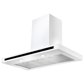 Rangemaster Hi-Lite Chimney Cooker Hood White