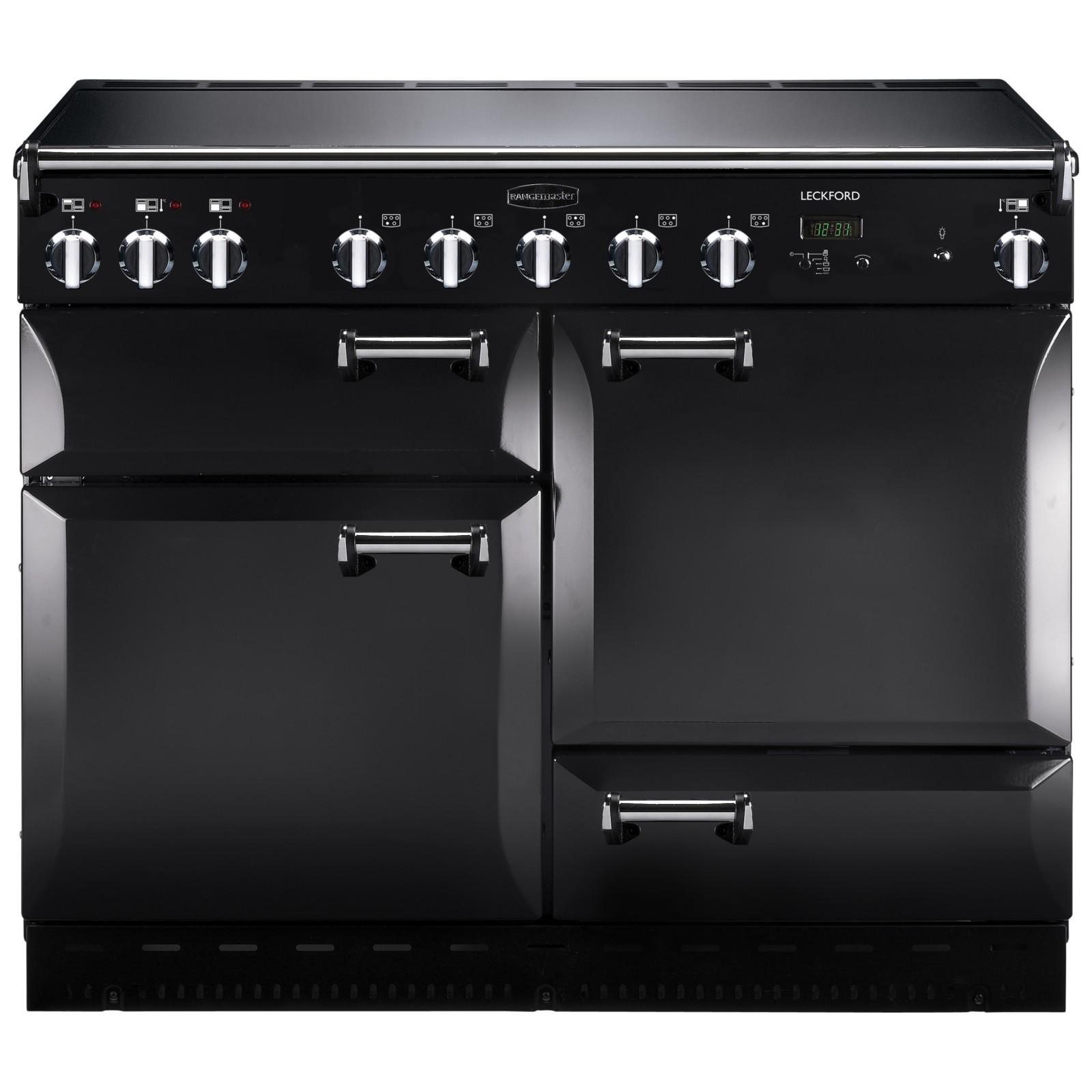 Rangemaster Leckford 110cm Electric Induction Range Cooker Black/Chrome