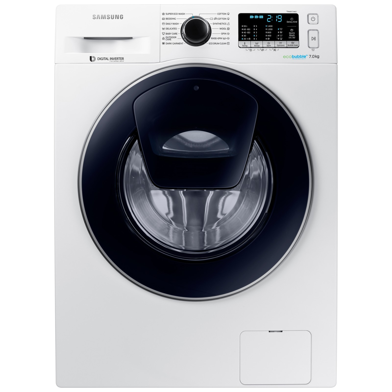samsung addwash ww70k5410uw washing machine 7kg load a. Black Bedroom Furniture Sets. Home Design Ideas