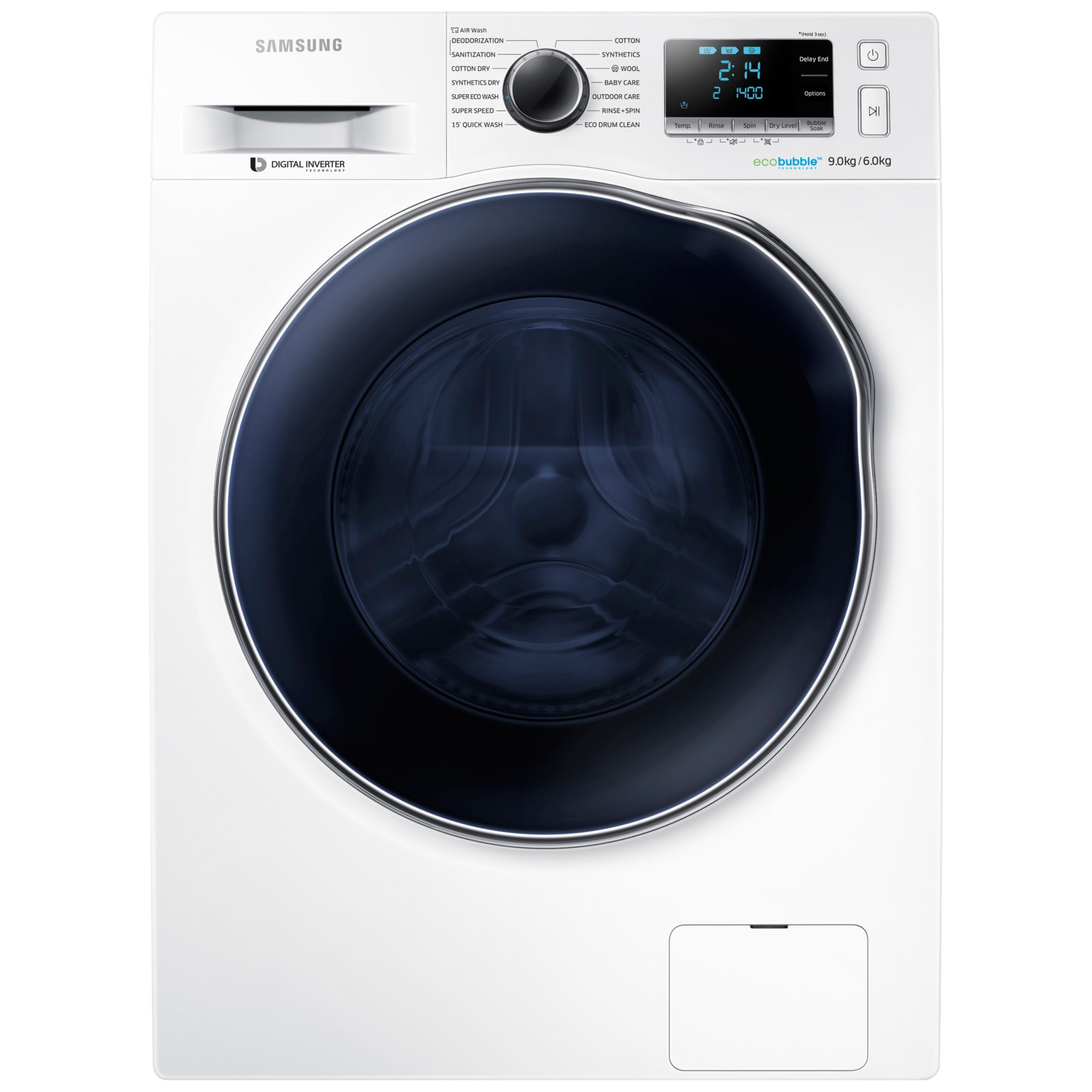 Samsung WD90J6410AW Freestanding Washer Dryer