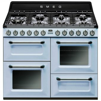 Smeg TR4110 Dual Fuel Range Cooker Pastel Blue
