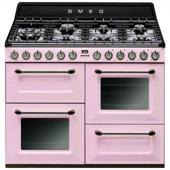 Smeg TR4110 Dual Fuel Range Cooker Pink