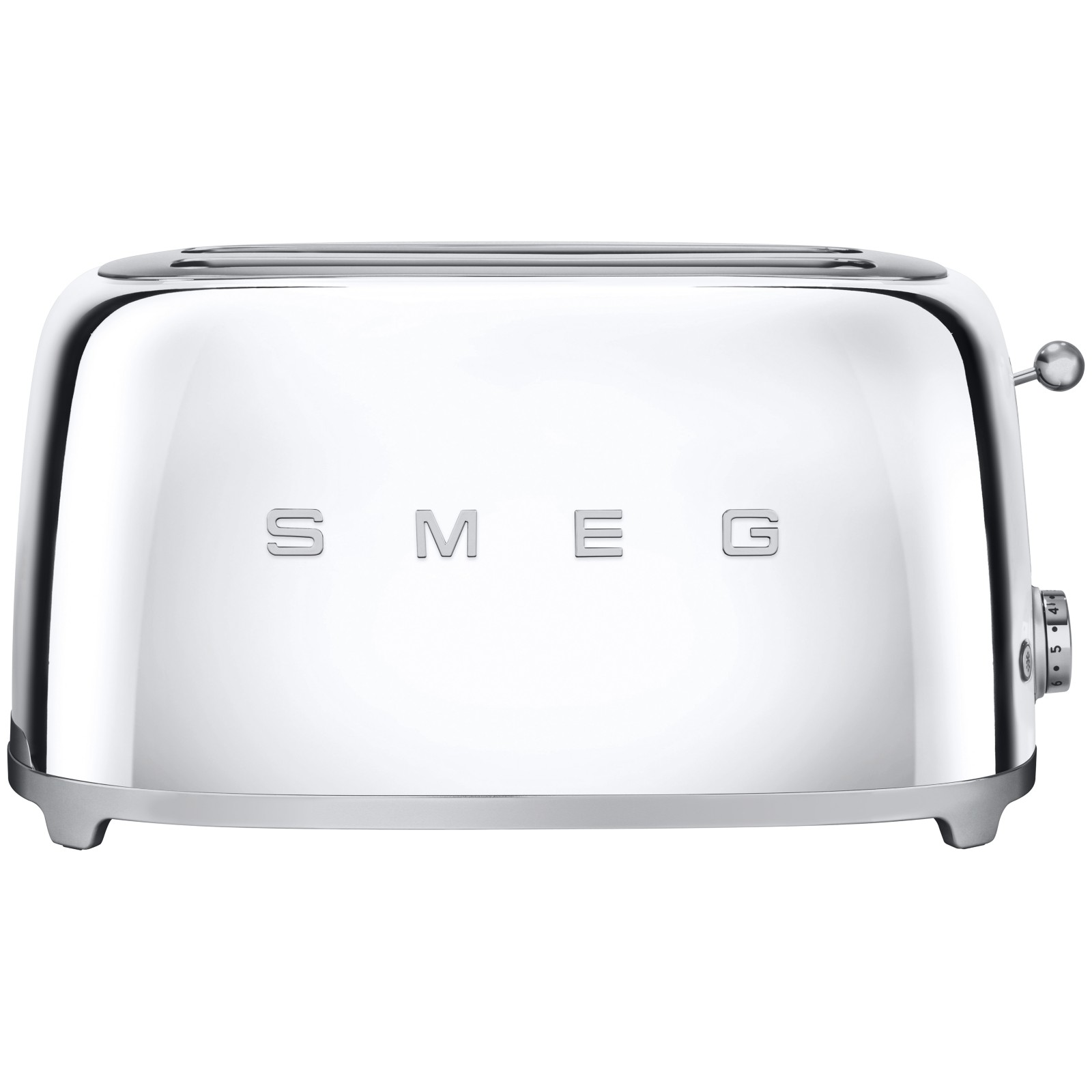 Smeg TSF02 4-Slice 2-Slot Toaster Chrome