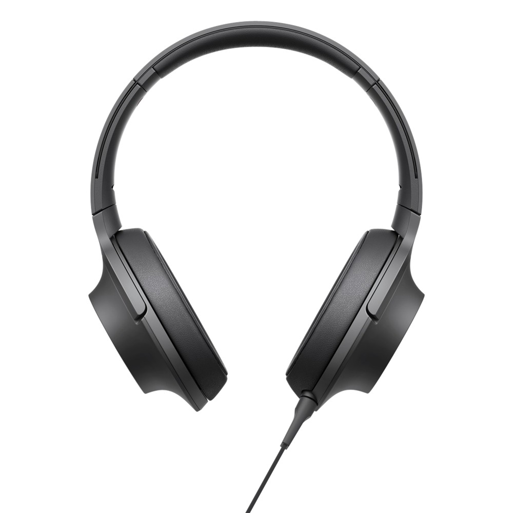 Sony MDR-100AAP h.ear Over-Ear Headphones with In-Line Mic/Remote Charcoal Black