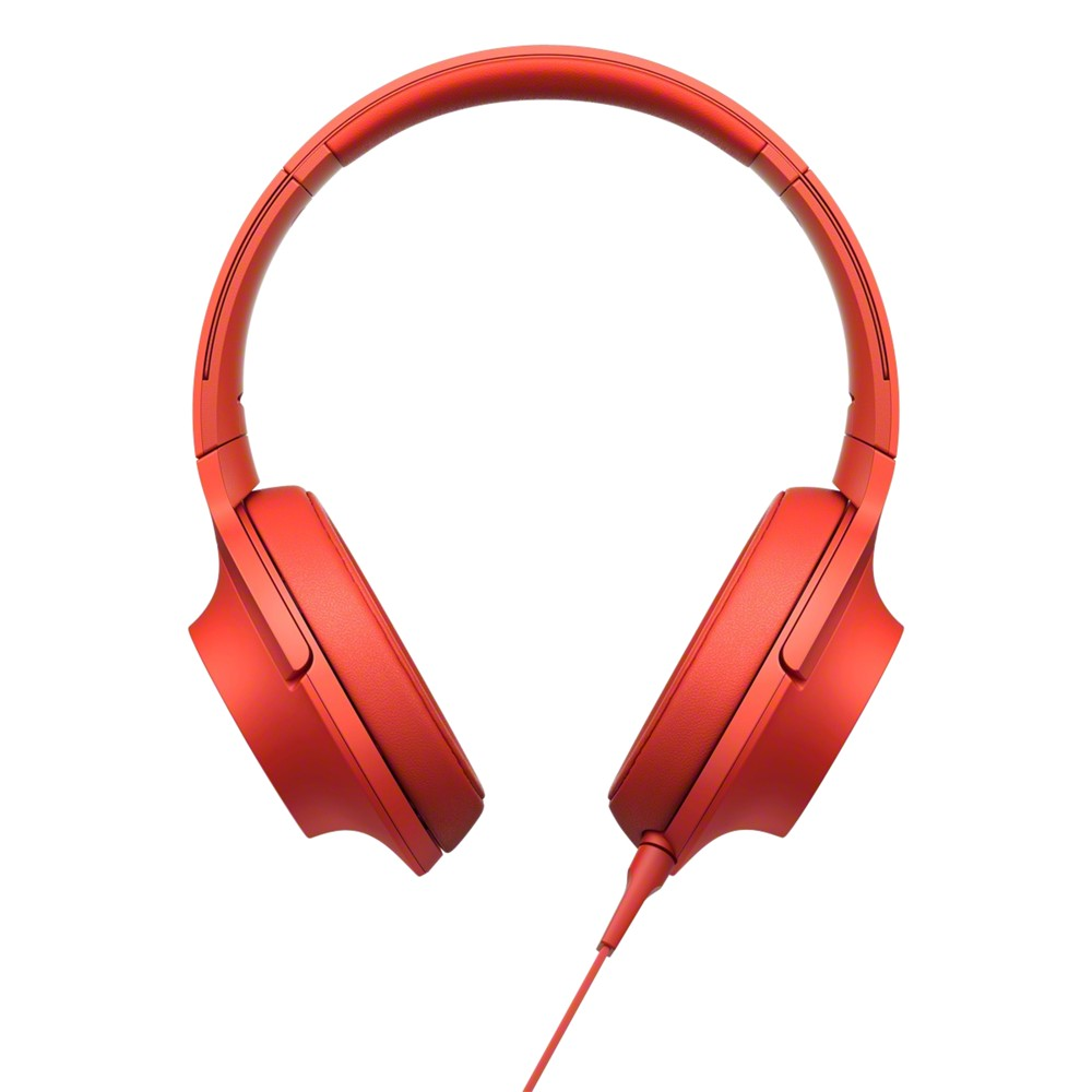 Sony MDR-100AAP h.ear Over-Ear Headphones with In-Line Mic/Remote Cinnabar Red
