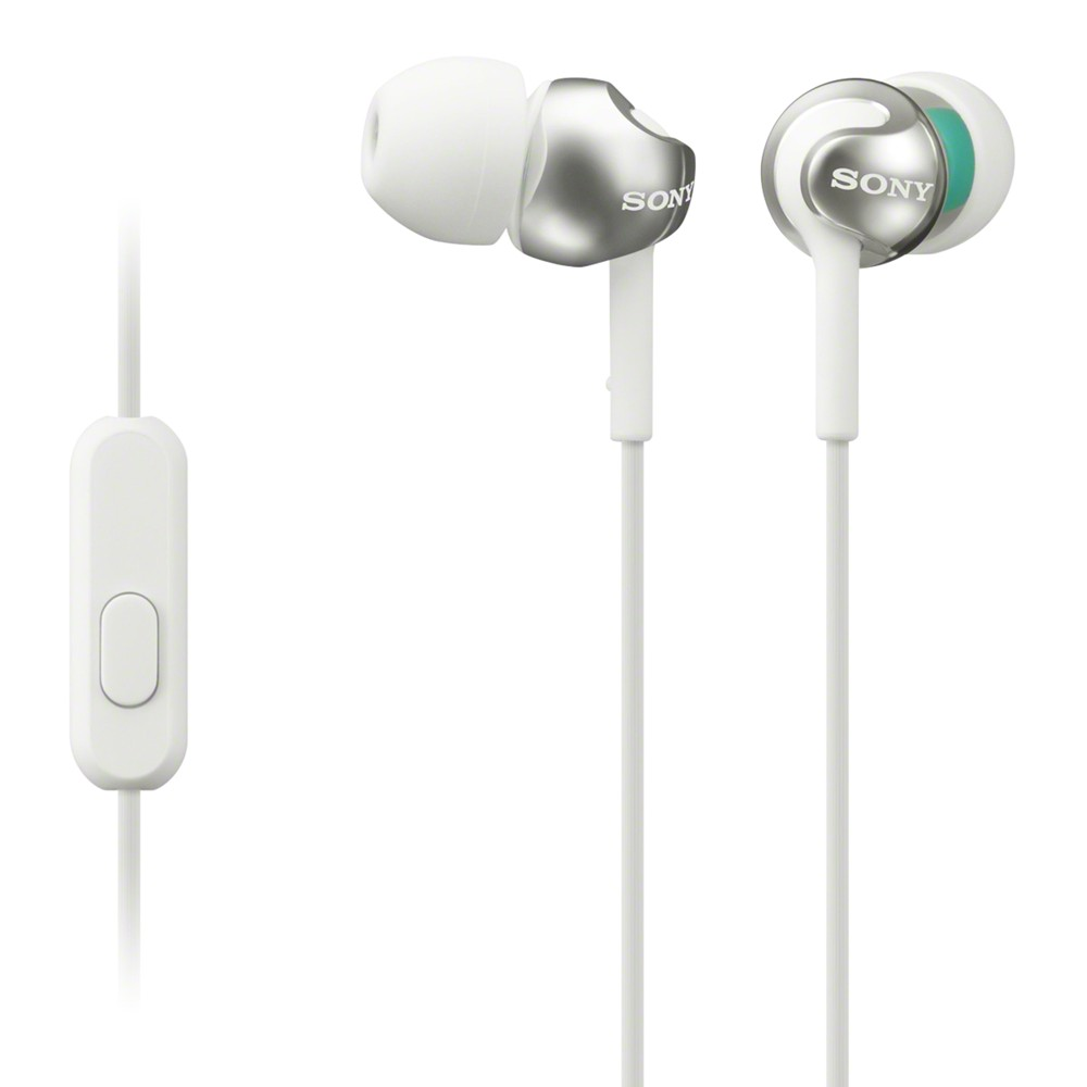 Sony MDR-EX110AP In-Ear Headphones with Mic/Remote White