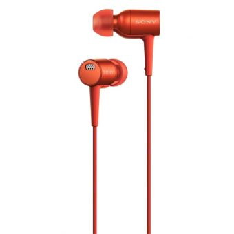 Sony MDR-EX750 h.ear High Resolution Noise Cancelling In-Ear Headphones with In-Line Mic/Remote Cinnabar Red