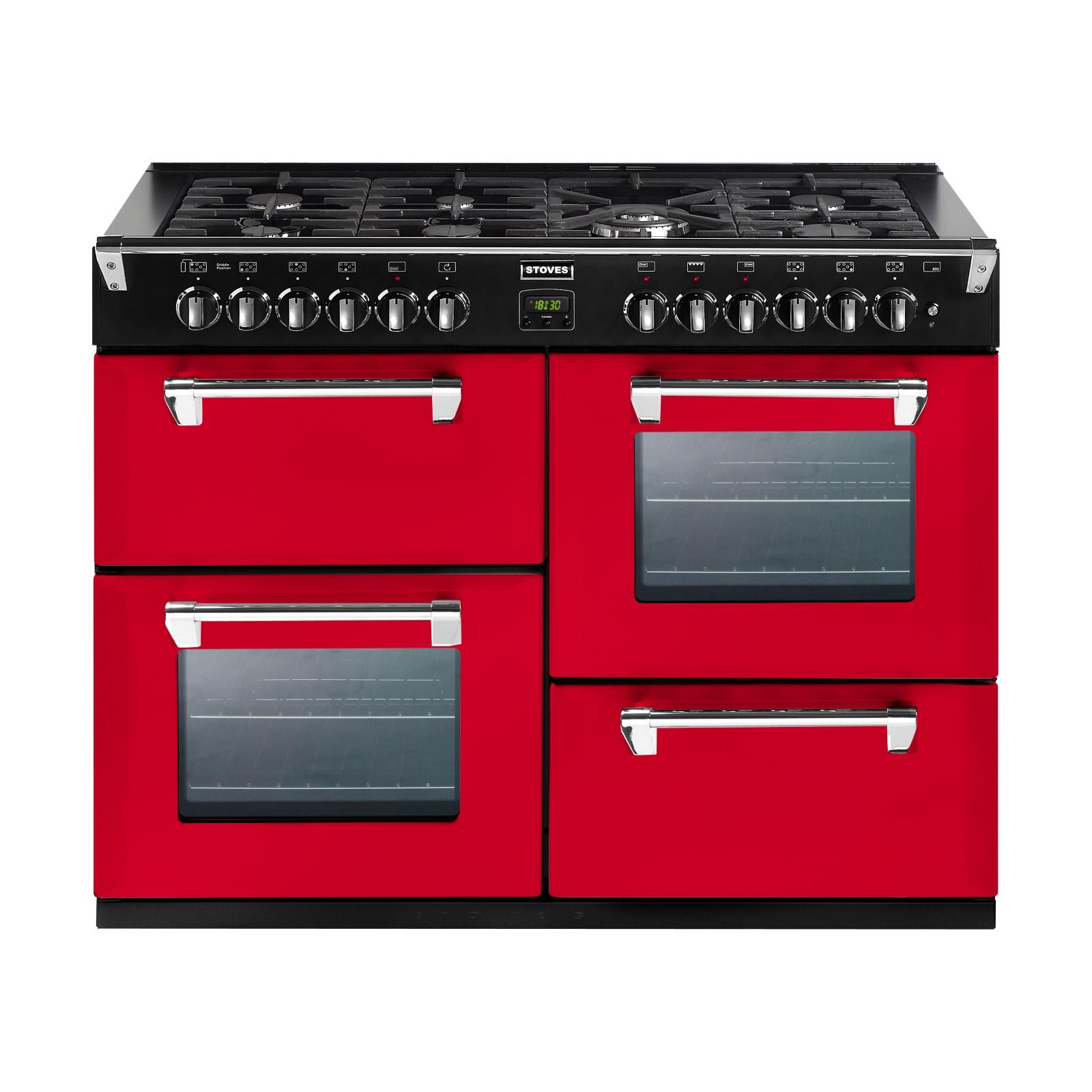 Stoves Richmond 1000DFT Freestanding Dual Fuel Range Cooker Hot Jalapeno