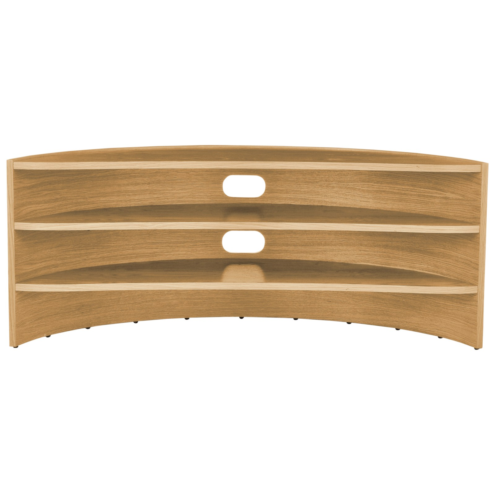 "Tom Schneider Curvature 1500 TV Stand for TVs up to 65"" Oak"