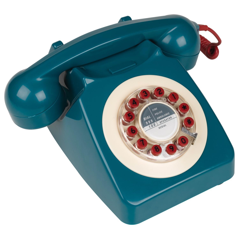 Wild & Wolf 746 1960s Corded Telephone Petrol