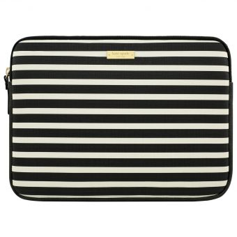 "kate spade new york Stripe Monochrome 13"" Laptop Sleeve"