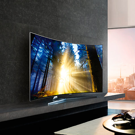 samsung ue49ks9000 curved suhd hdr 1 000 4k ultra hd quantum dot smart tv 49 with freeview hd. Black Bedroom Furniture Sets. Home Design Ideas