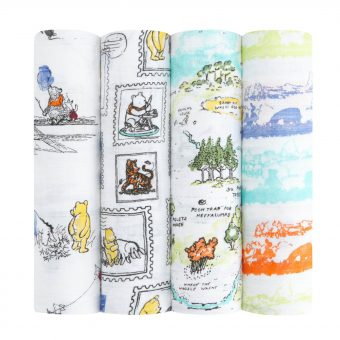 Aden + Anais Disney Winnie The Pooh Baby Swaddle Blanket