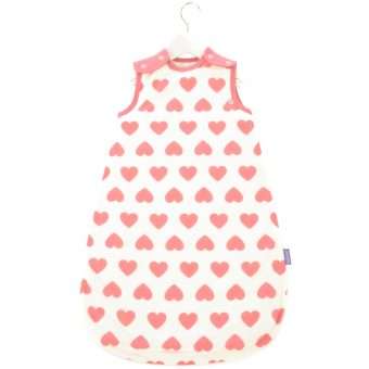 Babasac 2-in-1 Multi Tog Pink Heart Baby Sleep Bag