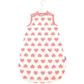 Babasac 2-in-1 Multi Tog Pink Heart Baby Sleep Bag