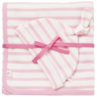 John Lewis Baby Blanket and Hat Set