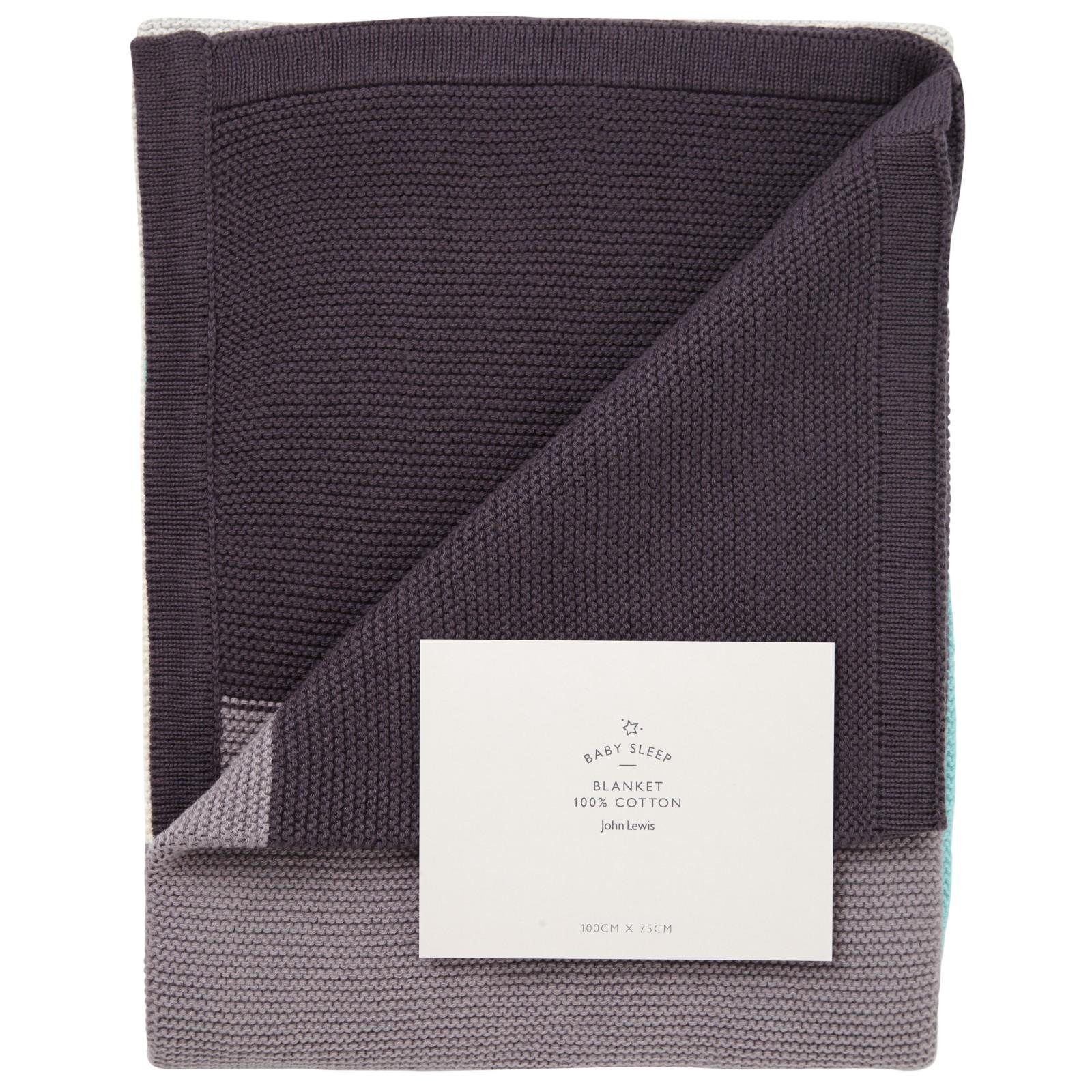 John Lewis Baby Stripe Pram Blanket
