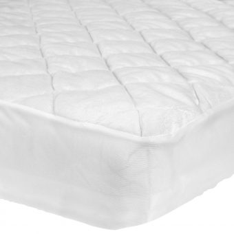 John Lewis Micro-Fresh Velour Cotbed Mattress Protector