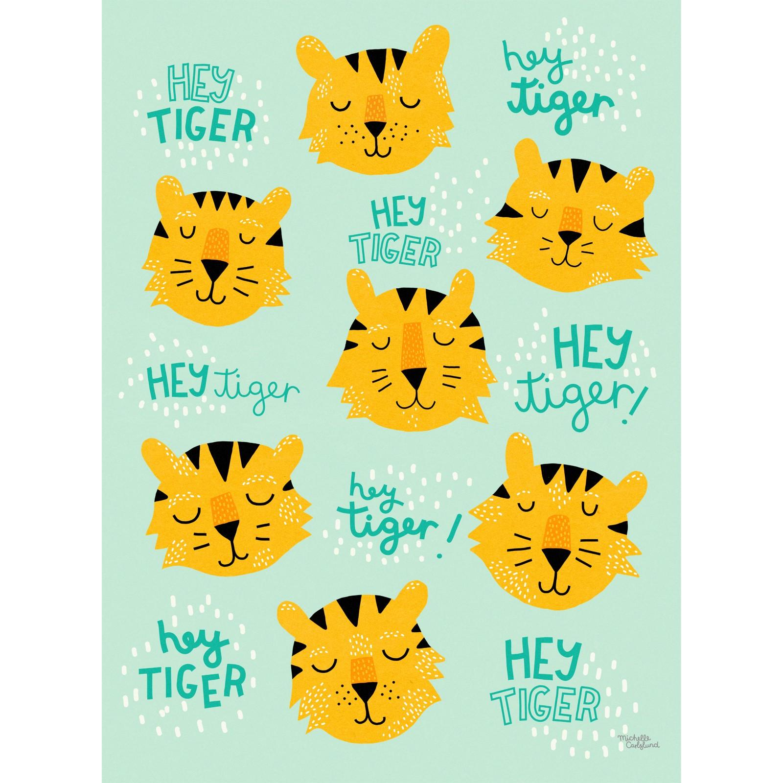 Michelle Carlslund Illustration Hey Tiger Print Poster