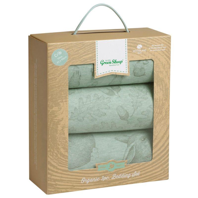 The Little Green Sheep Wild Cotton Baby Rabbit Crib Bedding Set