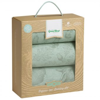 The Little Green Sheep Wild Cotton Baby Rabbit Pram Bedding Set