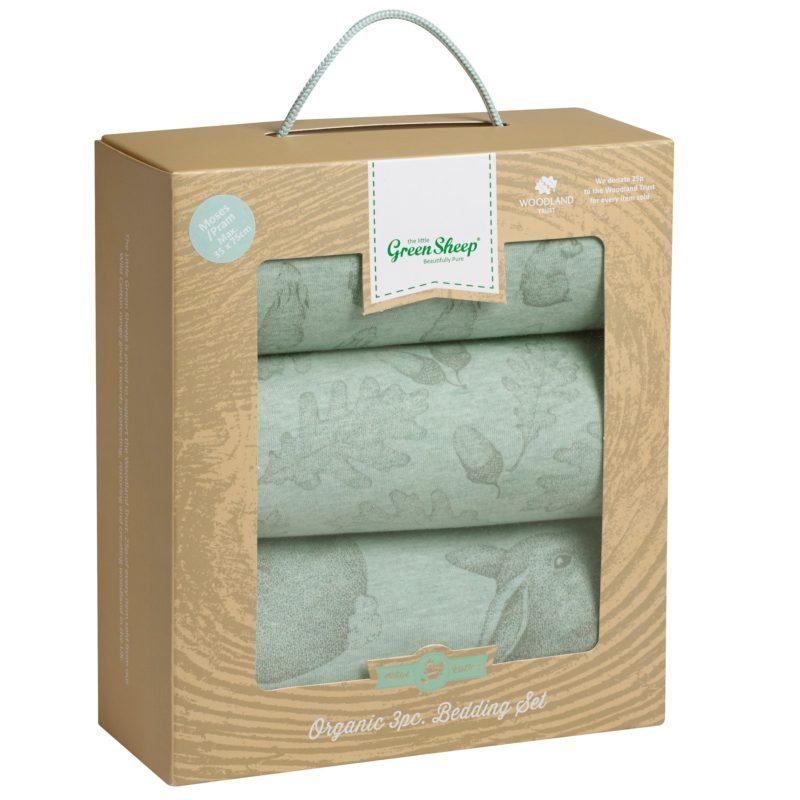 The Little Green Sheep Wild Cotton Baby Rabbit Pram Bedding Set